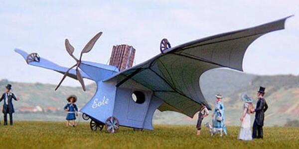 inventor del avión Clement Ader